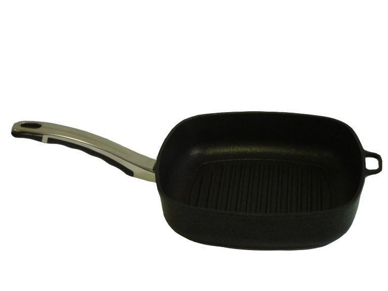 Titanová grilovací pánev 26x26x6,5cm INDUKCE
