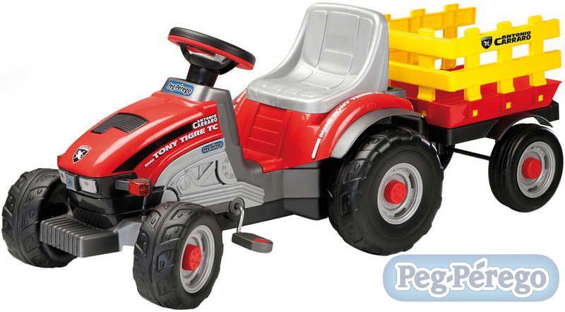 PEG PÉREGO TONY TIGRE šlapací řetězový traktor pro děti