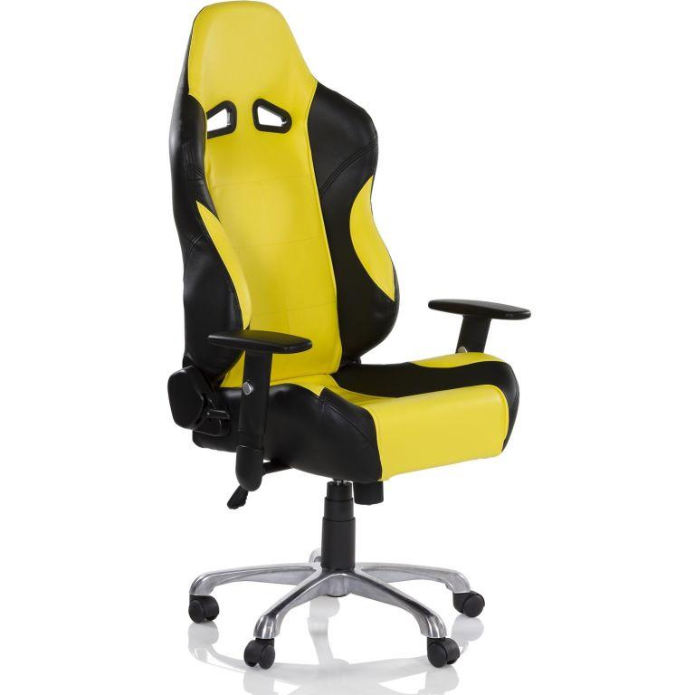 Kancelářská otočná židle RS Series - černá//žlutá