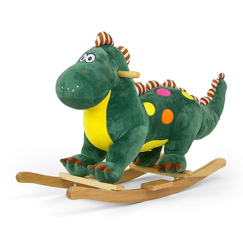 Houpací hračka s melodií Dino - zelená