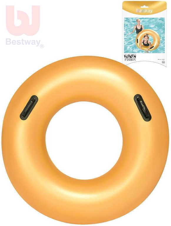 BESTWAY Kruh nafukovací s úchyty zlatý 91cm plavací kolo do vody 36127