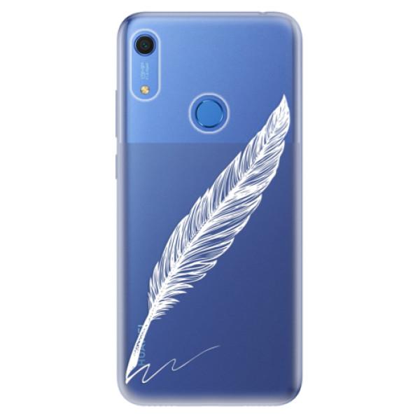 Odolné silikonové pouzdro iSaprio - Writing By Feather - white - Huawei Y6s