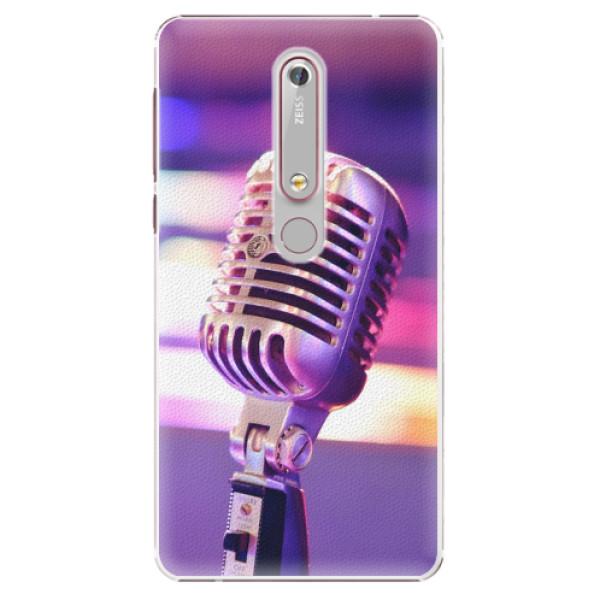 Plastové pouzdro iSaprio - Vintage Microphone - Nokia 6.1