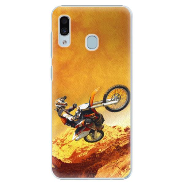 Plastové pouzdro iSaprio - Motocross - Samsung Galaxy A20