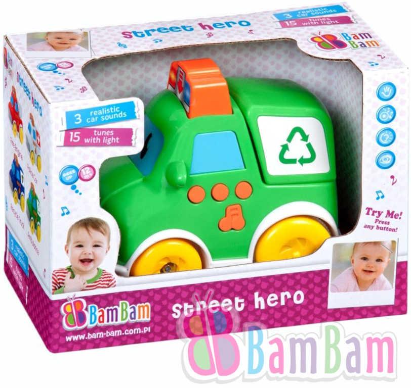 ET BAM BAM Auto popelář pro miminko na baterie plast Světlo Zvuk