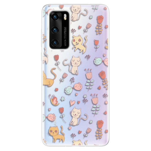 Odolné silikonové pouzdro iSaprio - Cat pattern 02 - Huawei P40