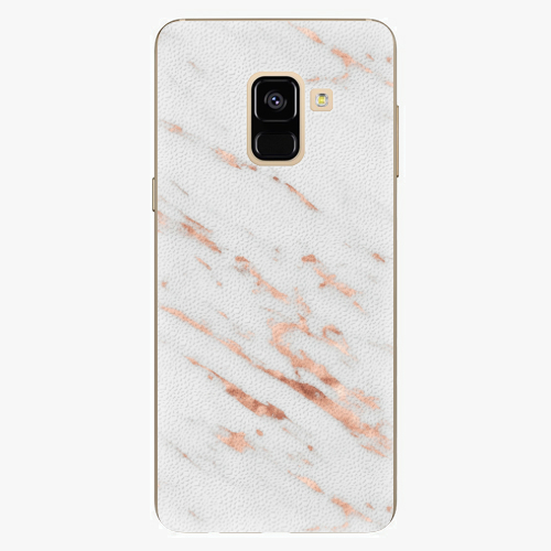 Plastový kryt iSaprio - Rose Gold Marble - Samsung Galaxy A8 2018