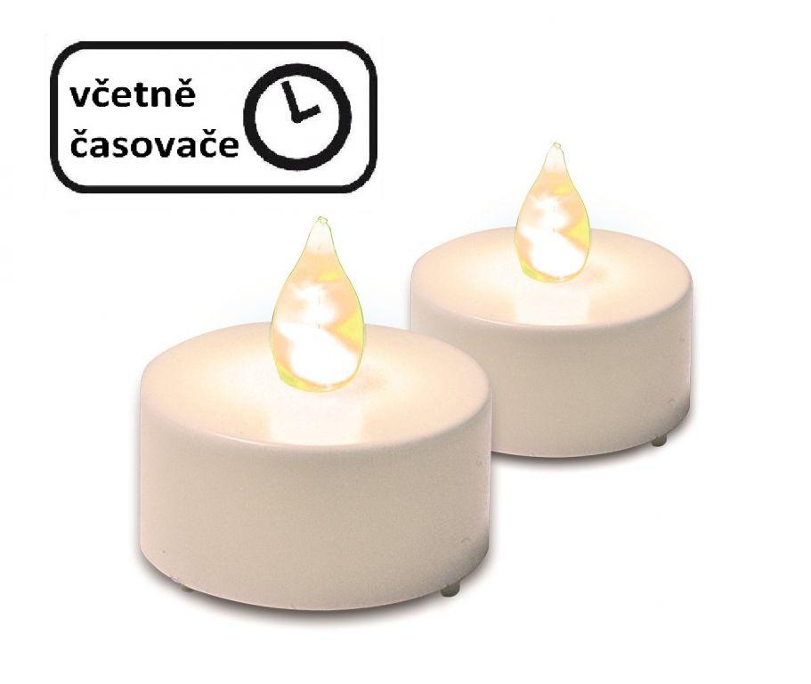 Dekorativní sada - 2 čajové svíčky s časovým spínačem