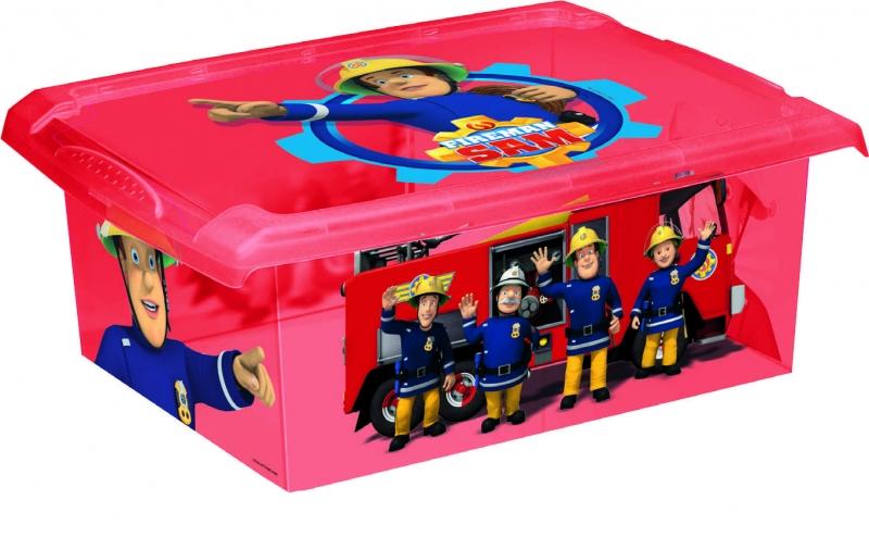 Keeeper Box Fireman Sam 10 l - červený