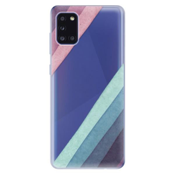 Odolné silikonové pouzdro iSaprio - Glitter Stripes 01 - Samsung Galaxy A31