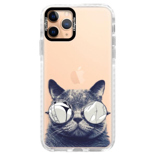 Silikonové pouzdro Bumper iSaprio - Crazy Cat 01 - iPhone 11 Pro