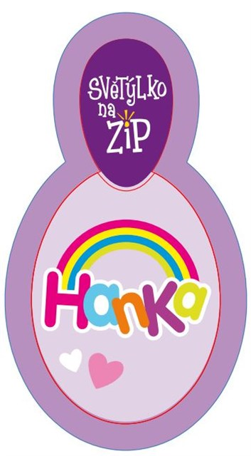 ALBI Světýlko na zip - Hanka