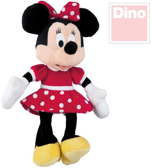 DINO PLYŠ Disney myška Minnie Mouse 25cm v červené sukni *PLYŠOVÉ HRAČKY*