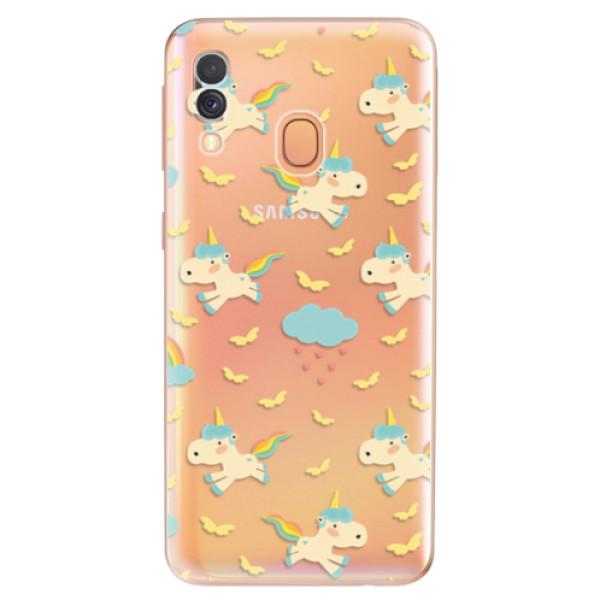 Odolné silikonové pouzdro iSaprio - Unicorn pattern 01 - Samsung Galaxy A40