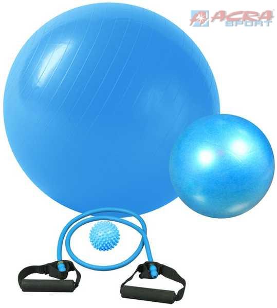 ACRA Sada Fitness rehabilitační Gymball, Expandér, Overball