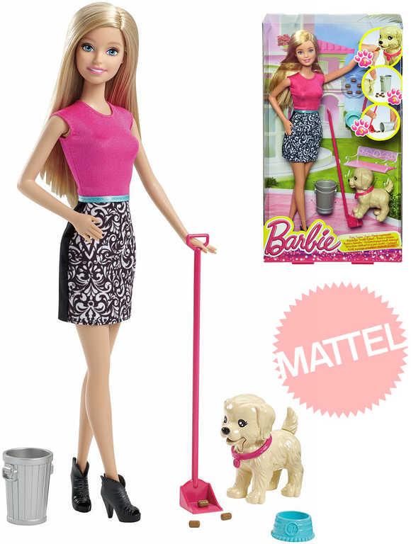 MATTEL BRB Barbie panenka s pejskem set s doplňky pečujeme o štěňátko plast