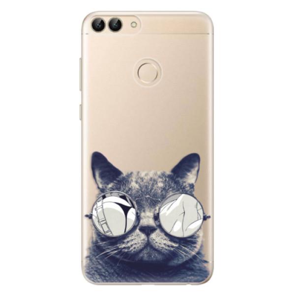 Odolné silikonové pouzdro iSaprio - Crazy Cat 01 - Huawei P Smart