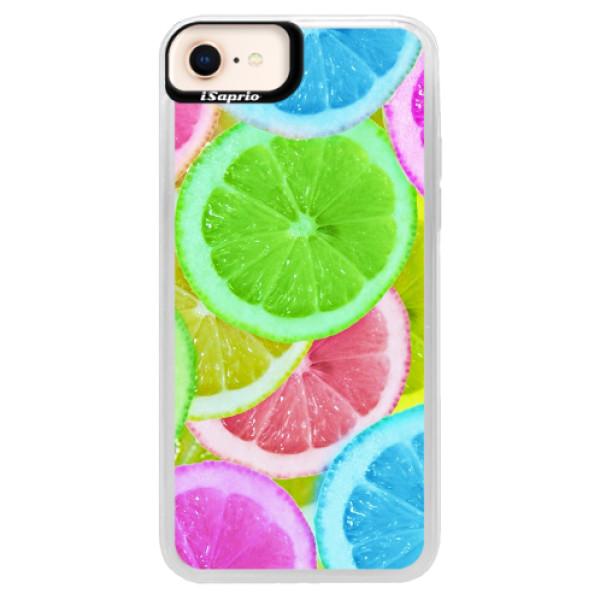 Neonové pouzdro Blue iSaprio - Lemon 02 - iPhone 8