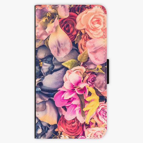 Flipové pouzdro iSaprio - Beauty Flowers - Samsung Galaxy J7 2016