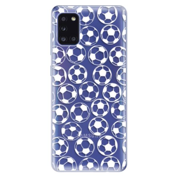 Odolné silikonové pouzdro iSaprio - Football pattern - white - Samsung Galaxy A31