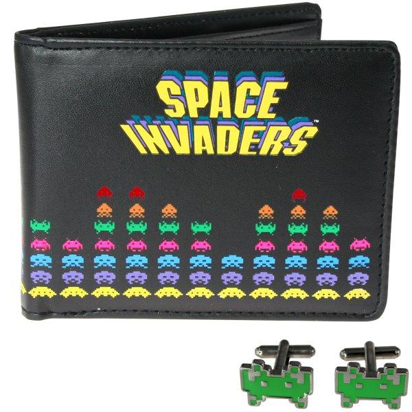 Retro peněženka a manžety - Space invaders