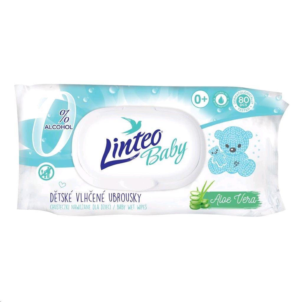 Vlhčené ubrousky Linteo Baby 80 ks Pure and fresh - dle obrázku