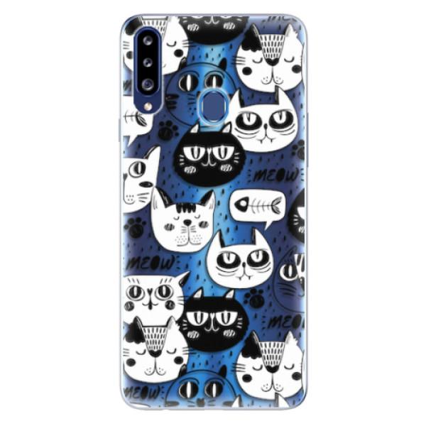 Odolné silikonové pouzdro iSaprio - Cat pattern 03 - Samsung Galaxy A20s