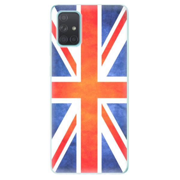 Odolné silikonové pouzdro iSaprio - UK Flag - Samsung Galaxy A71
