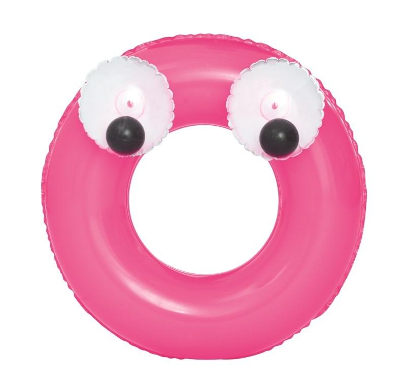 Dětský nafukovací kruh Bestway Big Eyes - růžová