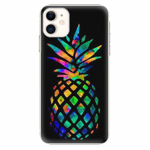 Plastový kryt iSaprio - Rainbow Pineapple - iPhone 11