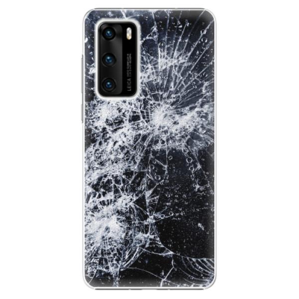 Plastové pouzdro iSaprio - Cracked - Huawei P40