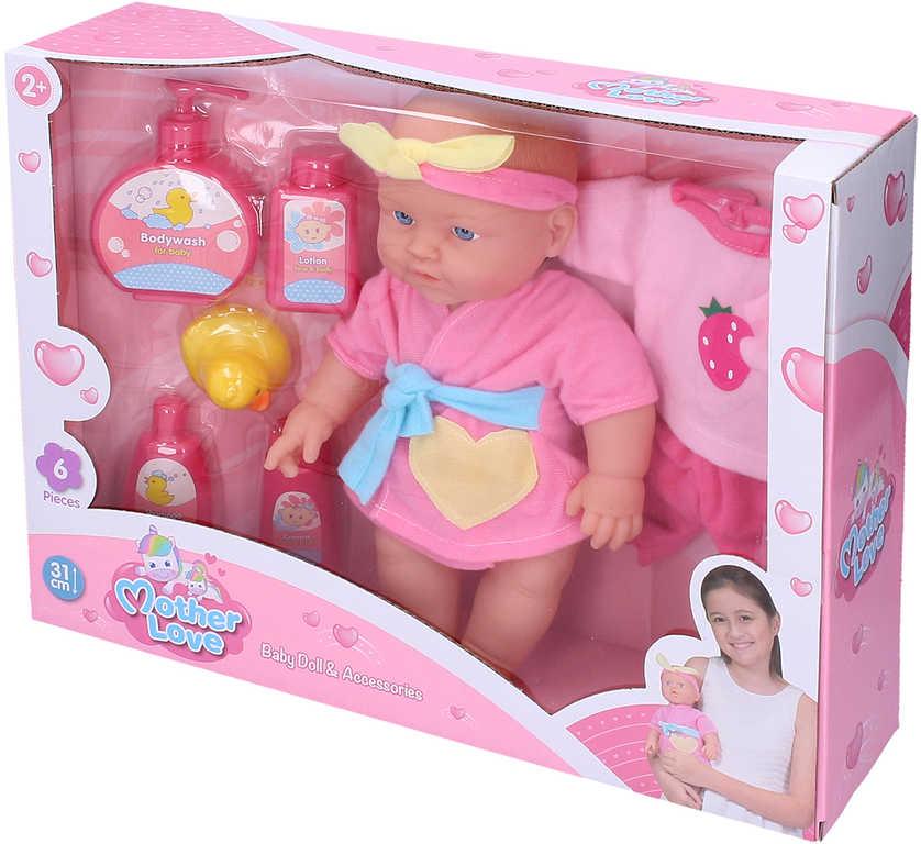 Miminko 31cm koupací set panenka s doplňky v krabici