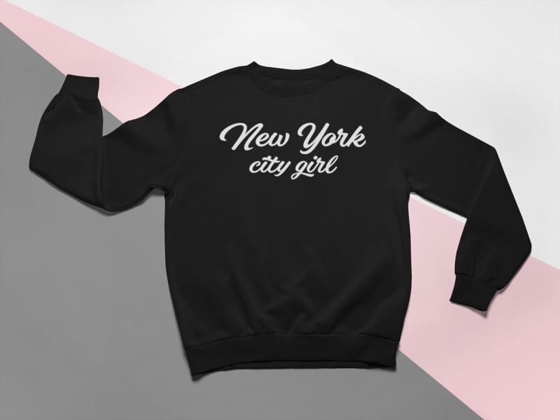 kidsbee-moderni-detska-divci-mikina-new-york-city-girl-cerna-vel-110-110