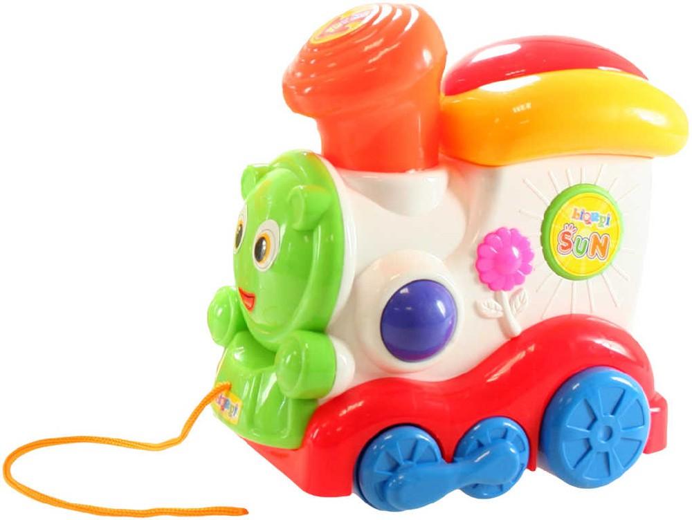 Baby mašinka tahací pískací 20cm plast pro miminko
