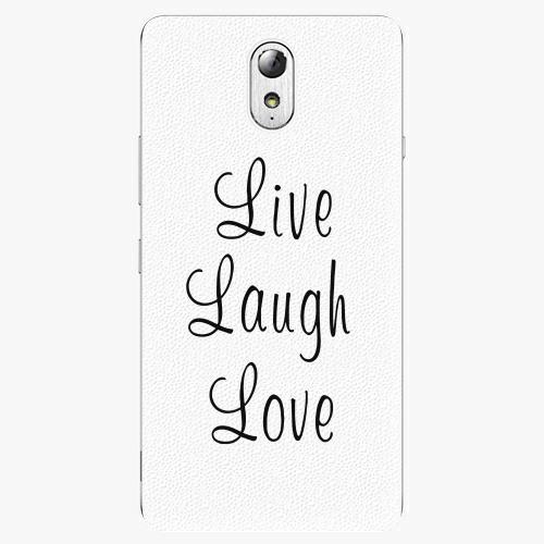 Plastový kryt iSaprio - Live Laugh Love - Lenovo P1m
