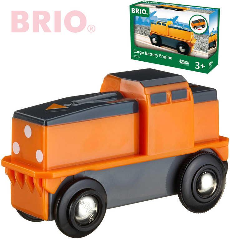 BRIO Lokomotiva elektrická nákladní na baterie k vláčkodráze 33215