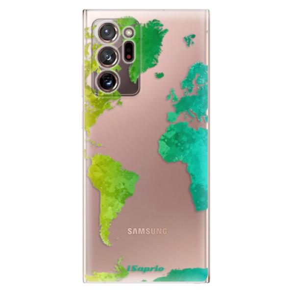 Odolné silikonové pouzdro iSaprio - Cold Map - Samsung Galaxy Note 20 Ultra