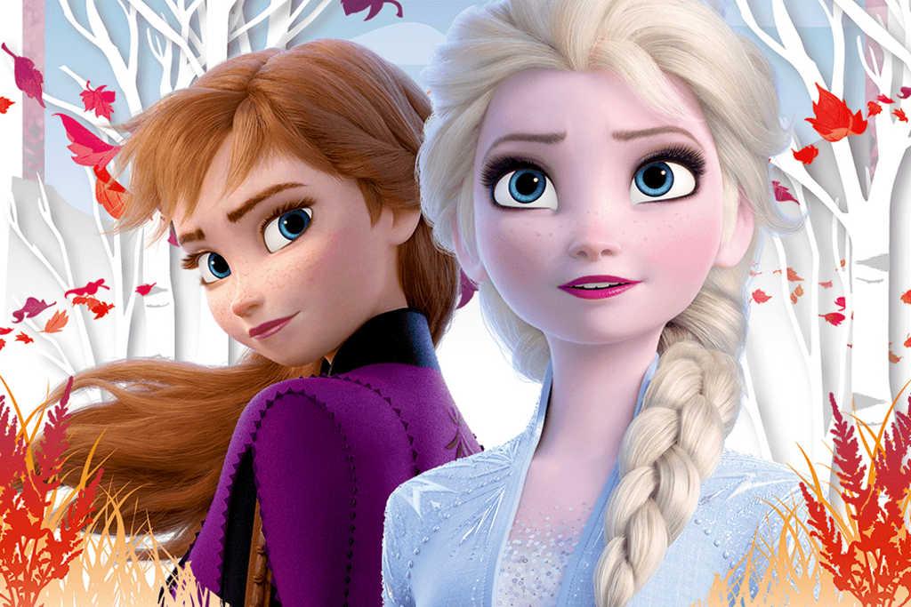 TREFL Puzzle Kouzelný svět Anny a Elsy Frozen 2 (Ledové Království) 33x22cm 60 dílků