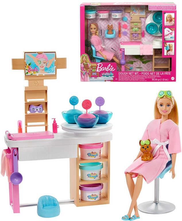MATTEL BRB Barbie salón krásy set panenka s pejskem a doplňky
