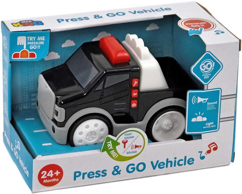 Baby autíčko 16 cm policejní na baterie pro miminko