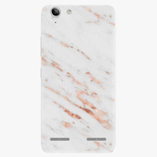 Plastový kryt iSaprio - Rose Gold Marble - Lenovo Vibe K5