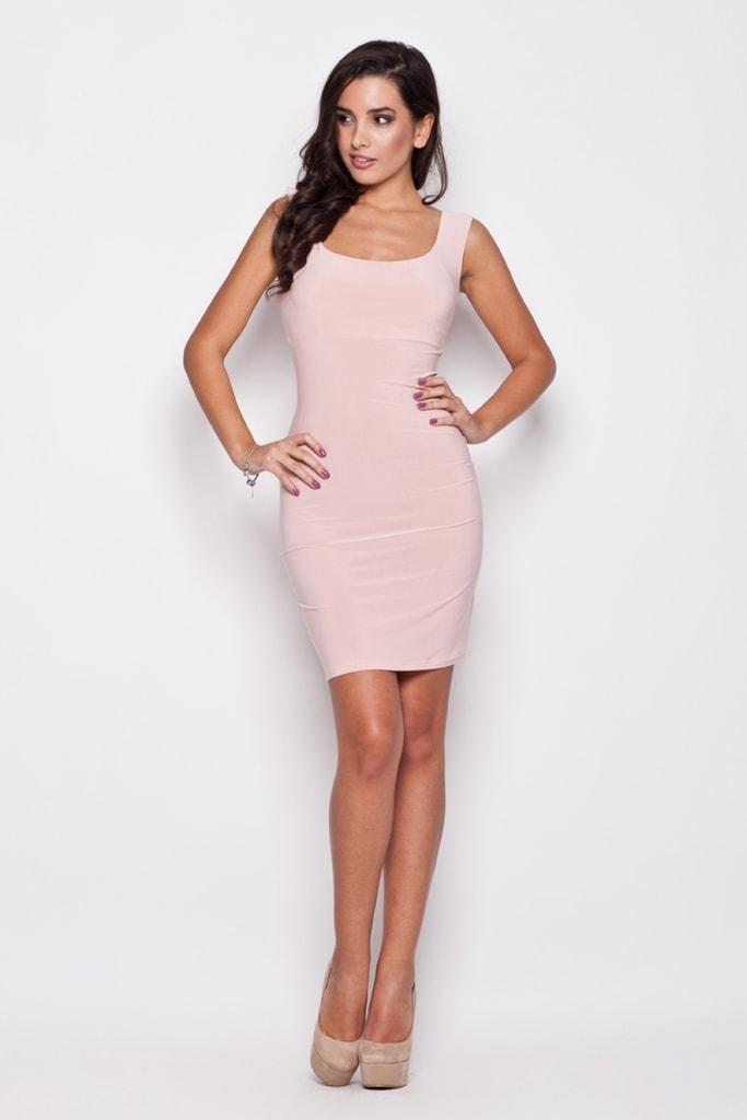 Dámské šaty K081 pink - S