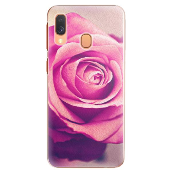 Plastové pouzdro iSaprio - Pink Rose - Samsung Galaxy A40