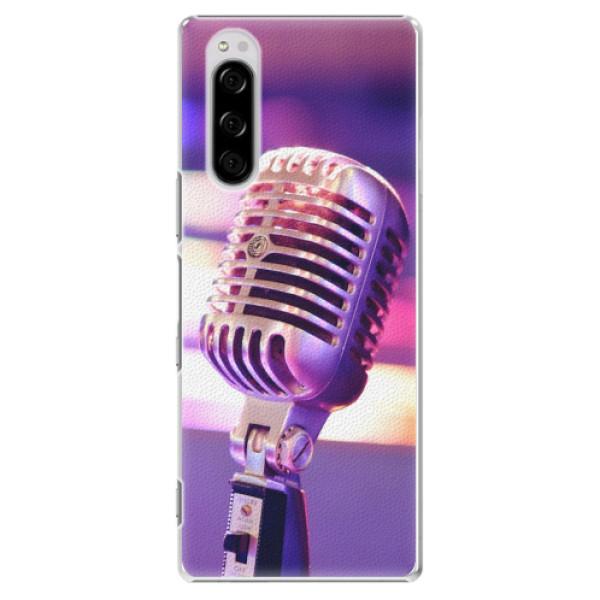 Plastové pouzdro iSaprio - Vintage Microphone - Sony Xperia 5