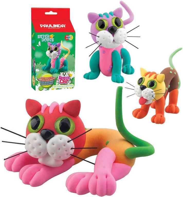 Paulinda Sweet Cat kočička 36g samotvrdnoucí plastelína 6 druhů v krabičce