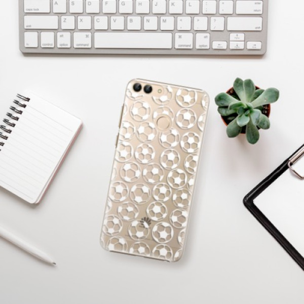Plastové pouzdro iSaprio - Football pattern - white - Huawei P Smart