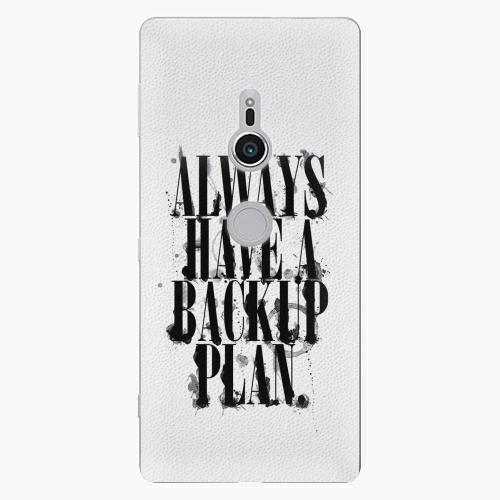 Plastový kryt iSaprio - Backup Plan - Sony Xperia XZ2