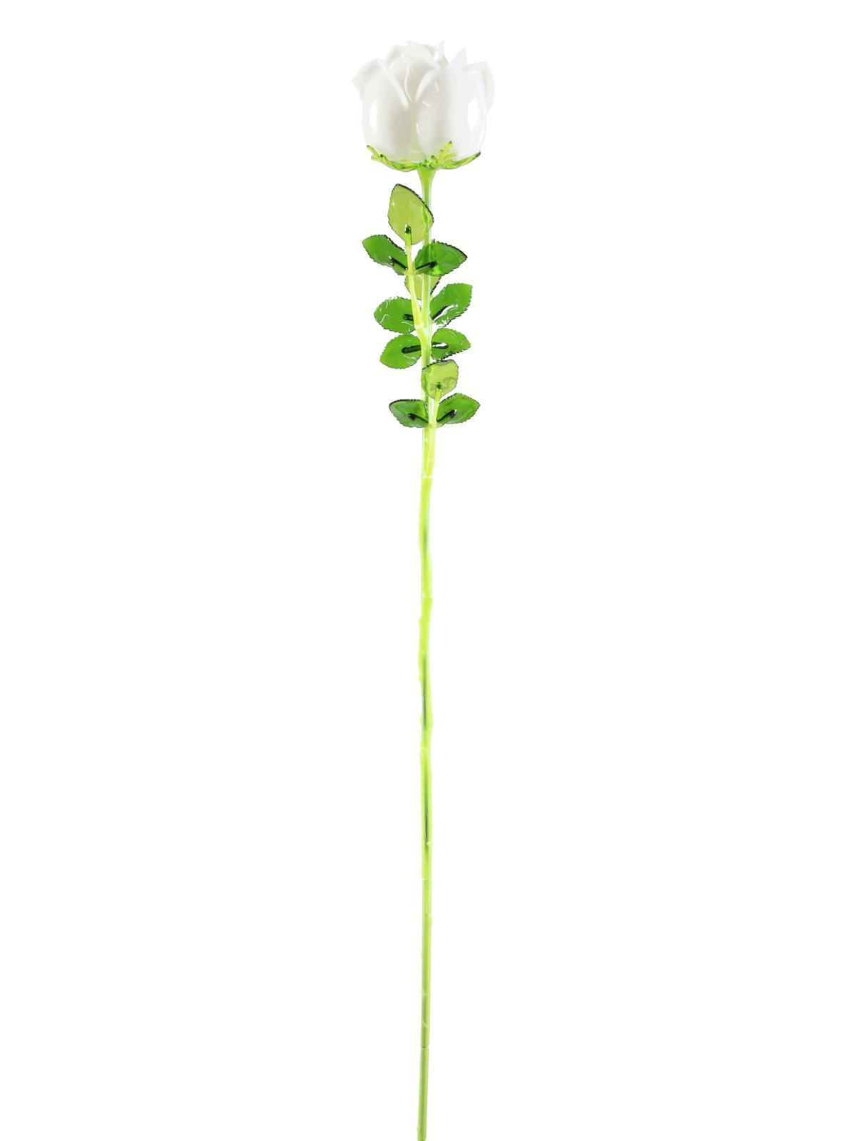 Růže bílá, krystalická 81cm, 12ks