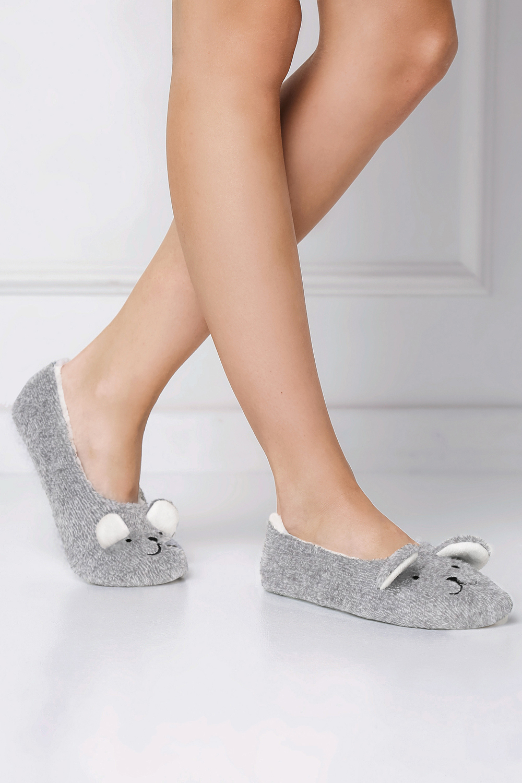 Dámské papuče Aruelle Sweet Bear Slippers - Šedá/36-38