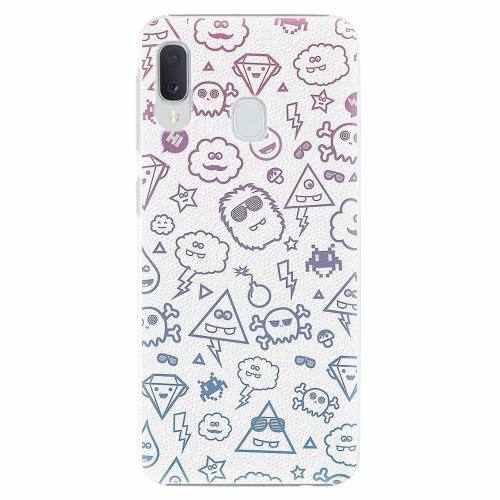 Plastový kryt iSaprio - Funny Clouds - Samsung Galaxy A20e
